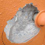 コンクリート爆裂箇所はつり・鉄筋研磨・防錆処理(サビキラーPro2~3回塗り)